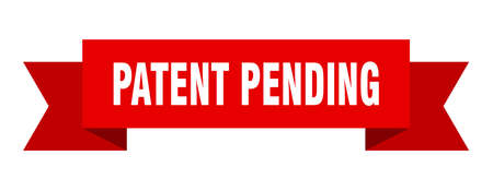 patent pending ribbon. patent pending isolated band sign. patent pending banner  イラスト・ベクター素材