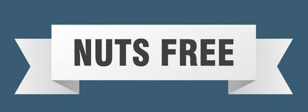 nuts free ribbon. nuts free isolated band sign. nuts free banner