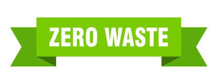 zero waste ribbon. zero waste isolated band sign. zero waste banner