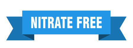 nitrate free ribbon. nitrate free isolated band sign. nitrate free banner