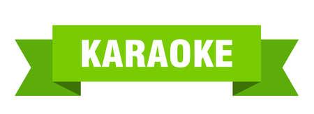 karaoke ribbon. karaoke isolated band sign. karaoke banner