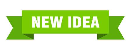 new idea ribbon. new idea isolated band sign. new idea banner  イラスト・ベクター素材