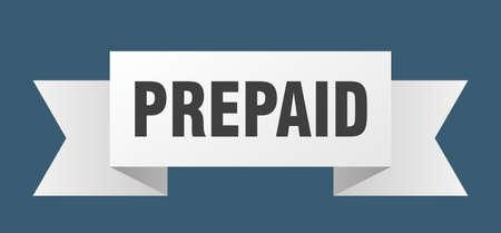 prepaid ribbon. prepaid isolated band sign. prepaid banner