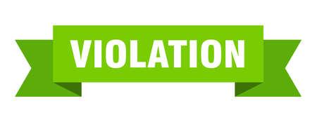 violation ribbon. violation isolated band sign. violation banner  イラスト・ベクター素材