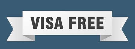 visa free ribbon. visa free isolated band sign. visa free banner