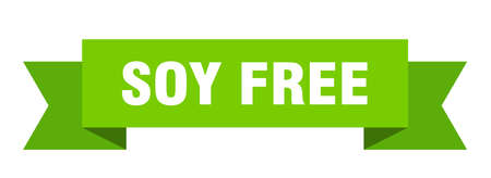soy free ribbon. soy free isolated band sign. soy free banner