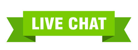live chat ribbon. live chat isolated band sign. live chat banner