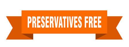 preservatives free ribbon. preservatives free isolated band sign. preservatives free banner  イラスト・ベクター素材