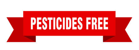 pesticides free ribbon. pesticides free isolated band sign. pesticides free banner