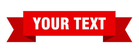 your text ribbon. your text isolated band sign. your text banner