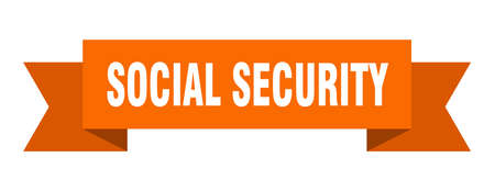 social security ribbon. social security isolated band sign. social security banner