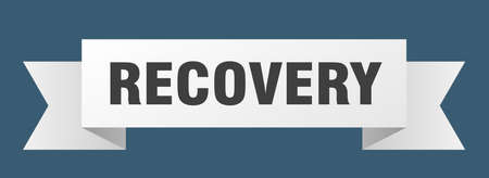 recovery ribbon. recovery isolated band sign. recovery banner