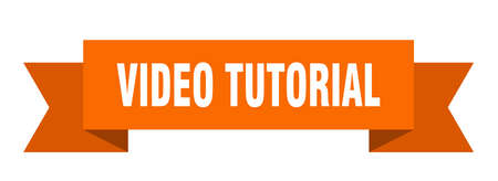 video tutorial ribbon. video tutorial isolated band sign. video tutorial banner
