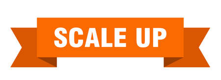scale up ribbon. scale up isolated band sign. scale up banner