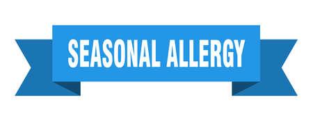 seasonal allergy ribbon. seasonal allergy isolated band sign. seasonal allergy banner  イラスト・ベクター素材