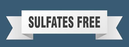 sulfates free ribbon. sulfates free isolated band sign. sulfates free banner