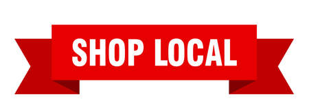 shop local ribbon. shop local isolated band sign. shop local banner  イラスト・ベクター素材
