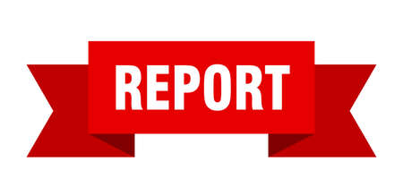 report ribbon. report isolated band sign. report banner