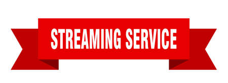 streaming service ribbon. streaming service isolated band sign. streaming service banner
