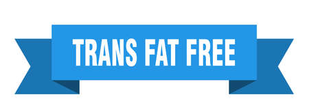 trans fat free ribbon. trans fat free isolated band sign. trans fat free banner  イラスト・ベクター素材