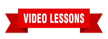 video lessons ribbon. video lessons isolated band sign. video lessons banner