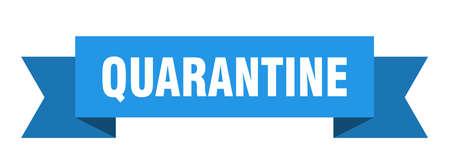 quarantine ribbon. quarantine isolated band sign. quarantine banner