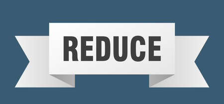 reduce ribbon. reduce isolated band sign. reduce banner
