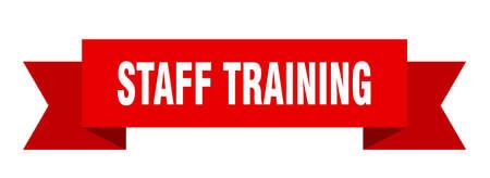 staff training ribbon. staff training isolated band sign. staff training banner  イラスト・ベクター素材