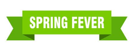 spring fever ribbon. spring fever isolated band sign. spring fever banner  イラスト・ベクター素材