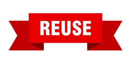 reuse ribbon. reuse isolated band sign. reuse banner