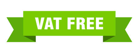 vat free ribbon. vat free isolated band sign. vat free banner  イラスト・ベクター素材