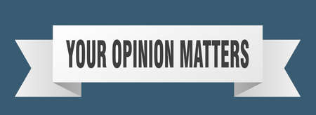 your opinion matters ribbon. your opinion matters isolated band sign. your opinion matters banner