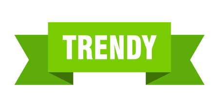 trendy ribbon. trendy isolated band sign. trendy banner  イラスト・ベクター素材