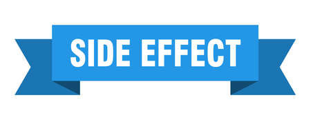 side effect ribbon. side effect isolated band sign. side effect banner
