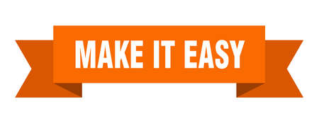 make it easy ribbon. make it easy isolated band sign. make it easy banner  イラスト・ベクター素材
