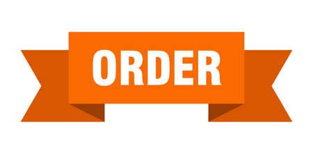 order ribbon. order isolated band sign. order banner