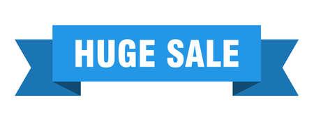 huge sale ribbon. huge sale isolated band sign. huge sale banner