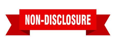 non-disclosure ribbon. non-disclosure isolated band sign. non-disclosure banner  イラスト・ベクター素材
