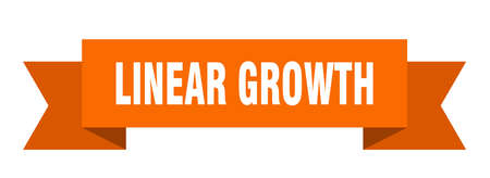 linear growth ribbon. linear growth isolated band sign. linear growth banner  イラスト・ベクター素材