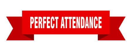 perfect attendance ribbon. perfect attendance isolated band sign. perfect attendance banner  イラスト・ベクター素材