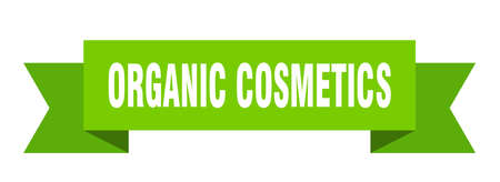 organic cosmetics ribbon. organic cosmetics isolated band sign. organic cosmetics banner
