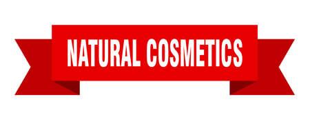 natural cosmetics ribbon. natural cosmetics isolated band sign. natural cosmetics banner  イラスト・ベクター素材