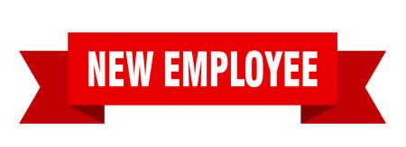 new employee ribbon. new employee isolated band sign. new employee banner
