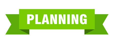 planning ribbon. planning isolated band sign. planning banner