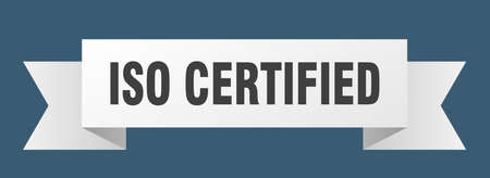 iso certified ribbon. iso certified isolated band sign. iso certified banner