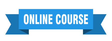 online course ribbon. online course isolated band sign. online course banner
