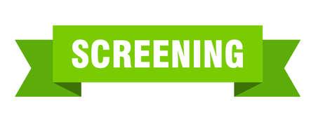 screening ribbon. screening isolated band sign. screening banner
