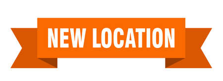 new location ribbon. new location isolated band sign. new location banner