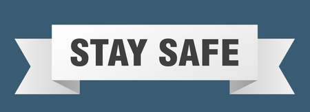 stay safe ribbon. stay safe isolated band sign. stay safe banner