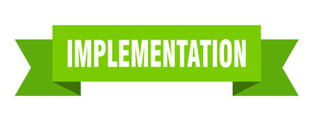 implementation ribbon. implementation isolated band sign. implementation banner  イラスト・ベクター素材